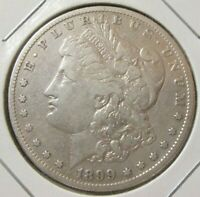 1899-S 90 SILVER MORGAN DOLLAR SEMI KEY [SOLID VF COND.]