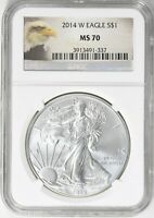 2014-W SILVER EAGLE NGC MS70