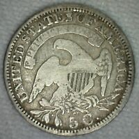 1830 US HALF DIME SILVER CAPPED BUST TYPE COIN  FINE KJ1