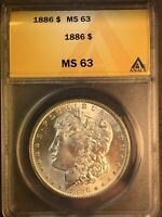 1886 P MINT STATE 63 VAM 6B HIGH 6 MULTIPLE CLASHED OBVERSE 'N