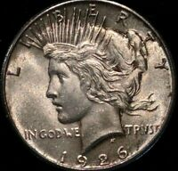1926 $1 PEACE SILVER DOLLAR SUPERB GEM BU VIRTUALLY MARK FREE