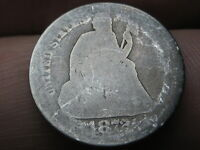 1872 P OR S SEATED LIBERTY SILVER DIME