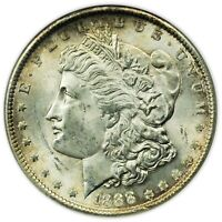 1888 MORGAN DOLLAR ANACS MINT STATE 62 VAM-11 DBL EAR TOP 100 COIN, OLD SLAB [4495.01]