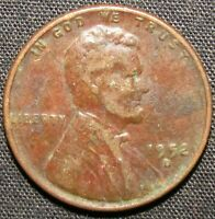 1952 D US LINCOLN WHEAT CENT COPPER COIN