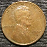 1942 D US LINCOLN WHEAT CENT COPPER COIN