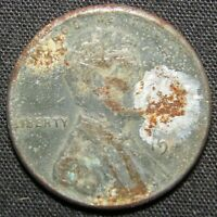 1943 D US LINCOLN WHEAT CENT STEEL COIN