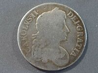 1673   GREAT BRITAIN   SILVER   ONE CROWN   KING CHARLES II
