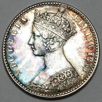 1849 QUEEN VICTORIA GREAT BRITAIN SILVER GODLESS FLORIN TWO