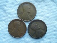1918 P.D,S CIRCULATED LINCOLN CENTS