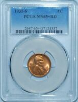 1935 S PCGS MINT STATE 65RD RED LINCOLN WHEAT CENT