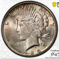 1925-S $1 PEACE DOLLAR MINT STATE 62 PCGS