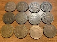 TWO CENT COIN, SHARP, $15.48 EACH.