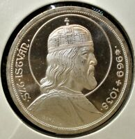 1938 SILVER 5 PENGO PROOF RESTRIKE COIN FROM HUNGARY CATALOG