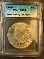 1904 O ICG MINT STATE 65 VAM 4B RUSTY FISH HOOK HITLIST 40, SUPER CD MORGAN SILVER DOLLAR