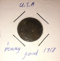 1918 LINCOLN WHEAT CENT COPPER 1 CENT UNITED STATES COIN A