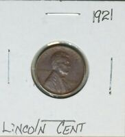 1921 1C LINCOLN WHEAT CENT PENNY  AU ABOUT UNC EARLY US TYPE COIN