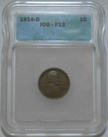 1914 D LINCOLN WHEAT CENT F12 ICG -  KEY DATE