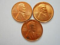 LINCOLN CENTS 1953 D 1954 S 1955 S 3 COINS UNCIRCULATED RED BROWN