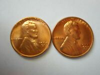 LINCOLN CENTS 1954 S 1955 S RED BROWN