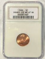 1995 LINCOLN MEMORIAL CENT DDO MS67 RED : NICE DETAIL BOLD D