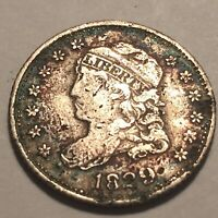 1829 CAPPED BUST HALF DIME GOOD DETAIL