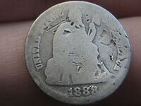 1888 S SEATED LIBERTY SILVER DIME