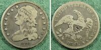 1833 CAPPED BUST QUARTER VG