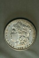 1890-S $1 MORGAN SILVER DOLLAR ABOUT UNC AU BU SLIDER