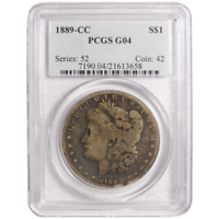 PCGS G-04 1889-CC MORGAN SILVER DOLLAR / OLD HOLDER / FULL DETAIL'S LOOK'S VG-10