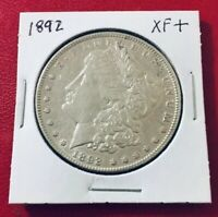 1892 MORGAN SILVER DOLLAR BETTER DATE EXTRA FINE