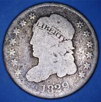 1829 LM-8 V-17 BUST HALF DIME LM RARITY-7 AMONG ST DIE MARRIAGES - 82916056