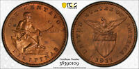 US/PHILIPPINES 1911 S/S ONE CENTAVO PCGS MS64 RB A 2.09A  IN