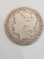 1893 O NEW ORLEANS MORGAN SILVER DOLLAR AG TO G CONDITION