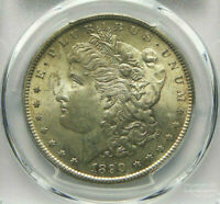 1890-S MORGAN SILVER DOLLAR PCGS MINT STATE 63 LY TONED- SHARP STRIKE