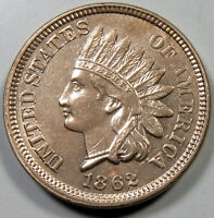 1862 INDIAN HEAD CENT UNCIRCULATED