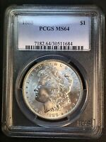 1888 P MINT STATE 64 VAM 4A HOT 50 DOUBLED REVERSE, CLASHED OBVERSE MORGAN SILVER DOLLAR