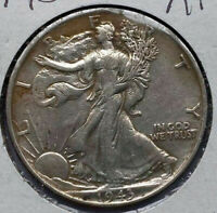 1943 WALKING LIBERTY HALF DOLLAR EXTRA FINE -AU/EXTRA FINE  LIGHT TONING
