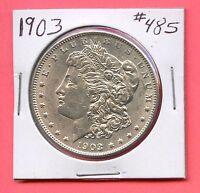 1903 $1 MORGAN SILVER DOLLAR. UNCIRCULATED. LOT 88