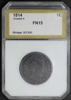 1814 CLASSIC HEAD LARGE CENT CROSSLET 4 VARIETY FINE