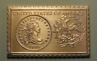 1795 UNITED STATES LIBERTY DRAPED BUST DOLLAR NUMISTAMP MEDAL COIN 1976 REED
