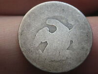 1809-1837 90 SILVER CAPPED BUST DIME, SLICK, HEAVILY WORN, LOWBALL