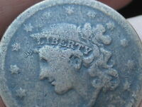 1839 MATRON HEAD LARGE CENT PENNY, SILLY HEAD, VG DETAILS