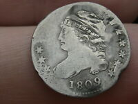 1809 90 SILVER CAPPED BUST DIME,  KEY DATE