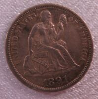 1891 SEATED DIME -  EXTRA FINE