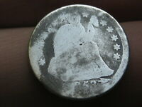 1853 P SEATED LIBERTY SILVER DIME WITH ARROWS