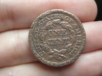 1848 BRAIDED HAIR LARGE CENT PENNY- OLD TYPE COIN