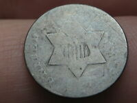 1853 THREE 3 CENT SILVER TRIME- OLD TYPE COIN