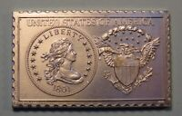 1801 UNITED STATES LIBERTY DRAPED BUST HALF DOLLAR NUMISTAMP MEDAL COIN 1976
