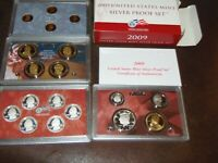 2009 US MINT SILVER  PROOF SET 90  STATE QUARTERS KENNEDY