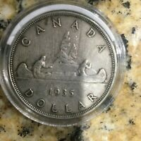 1935 CANADA 80  SILVER DOLLAR COIN KING GEORGE V FIRST MINTE